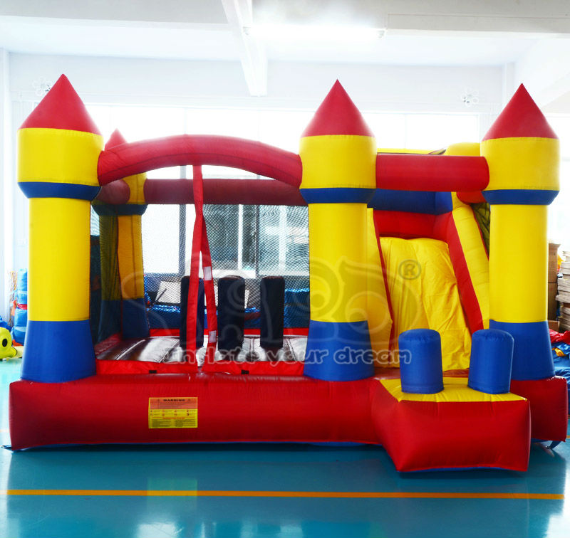 Best qualty bouncy castle bouce house with slide for kids.inflatable toys for kids,jumping inflatable toys, obstacle course(China (Mainland))