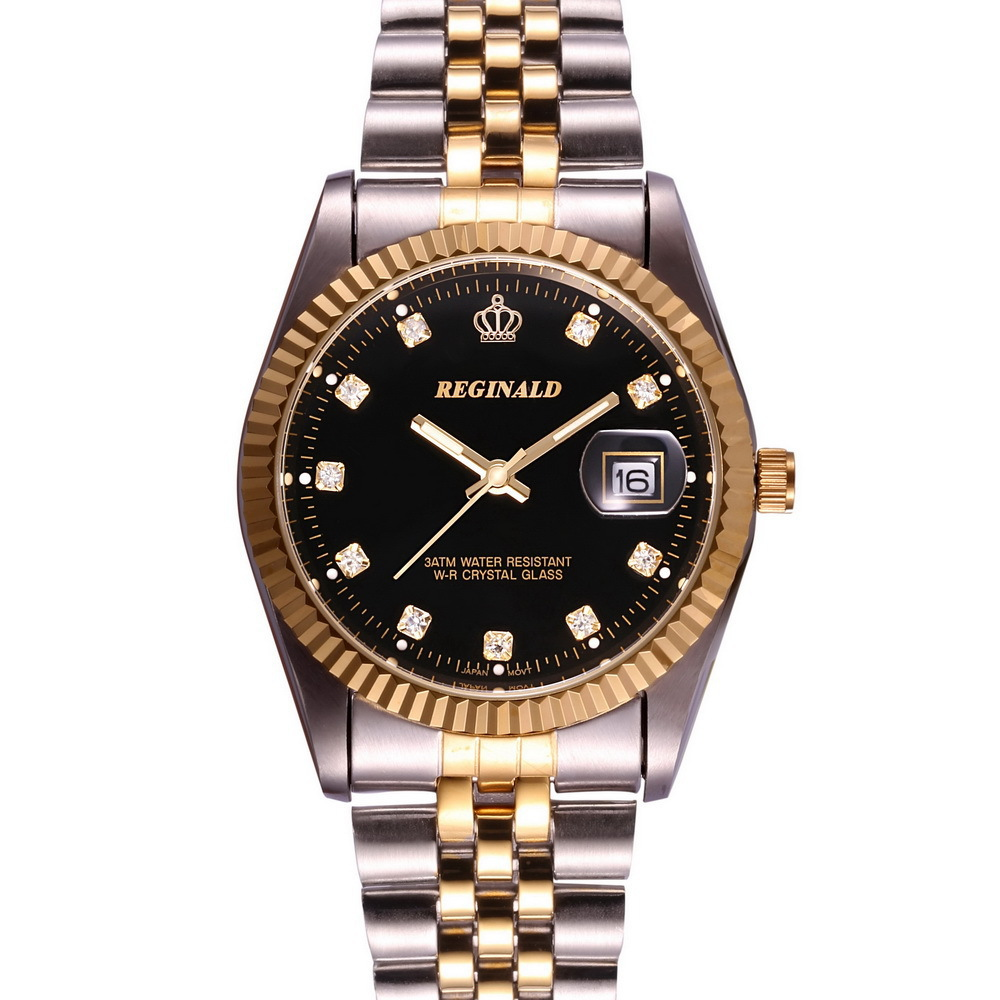 2015 Luxury Brand Wrist Watch Golden Blue Quartz Watch for ...