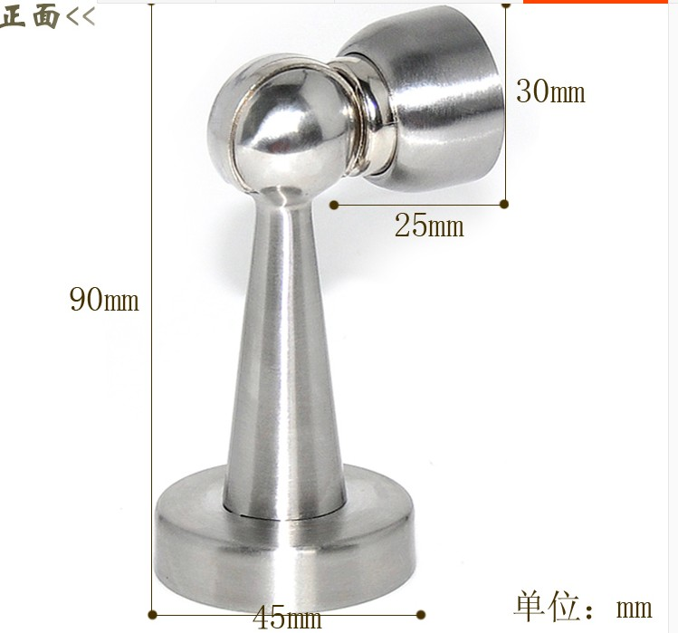 cheap furniture hardware door stopper DIY woodworking house hardware and tool accessory Stainless Steel Magnetic Holder Catch(China (Mainland))