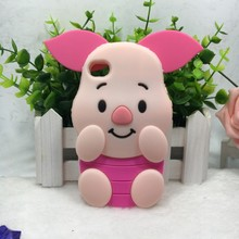 3D silicone cartoon pig Phone Case Cover For Apple iphone 4 4S 4G 4GS cover soft lovely mobile case For iPhone4 4S cases housing(China (Mainland))