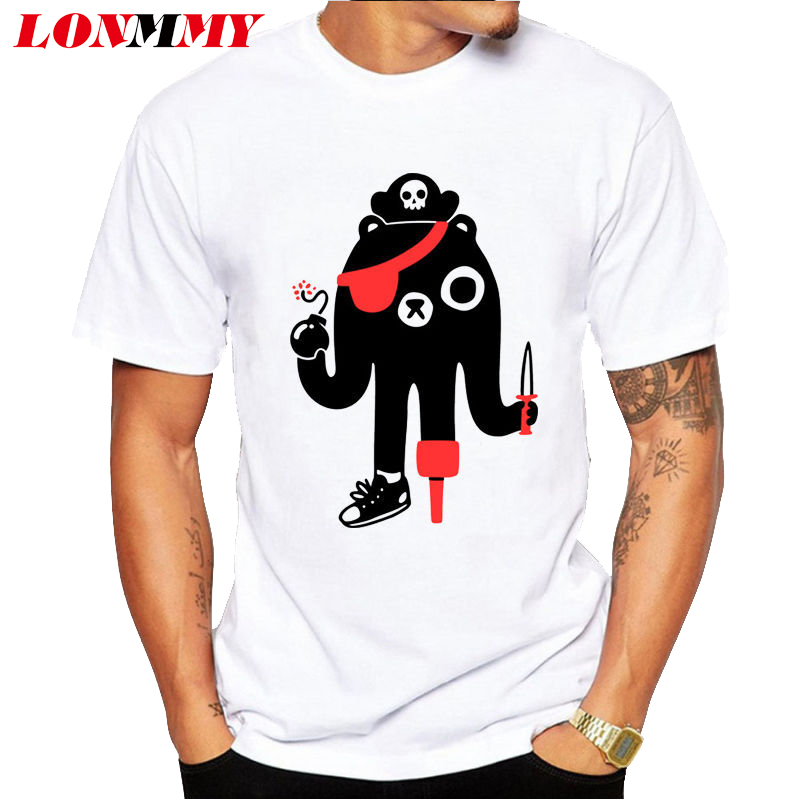 LONMMY 2016 Summer fitness tshirt 95% Cotton Tops Short sleeved Brand clothing t shirt men ip hop t-shirt men O-Neck Funny print(China (Mainland))