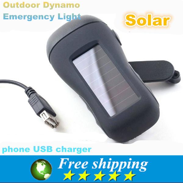 outdoor multi-purpose emergency light,Solar flashlight, hand hand power flashlight, USB mobile phone charger,55*116*44 mm(China (Mainland))