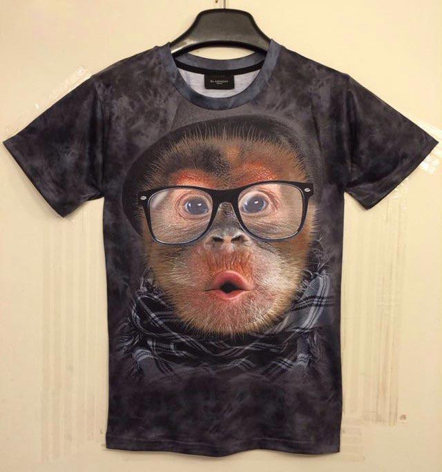 [Mikeal] Spring Summer Fashion Women's 3d t-shirt funny printed glasses gorilla top tees Tshirt Women T shirt clothing DW10(China (Mainland))