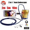 Armgroup Black 7MM Snake USB Android Endoscopic Camera 2IN1 Android Phone Camera 2m 5m 10m MicroUSB