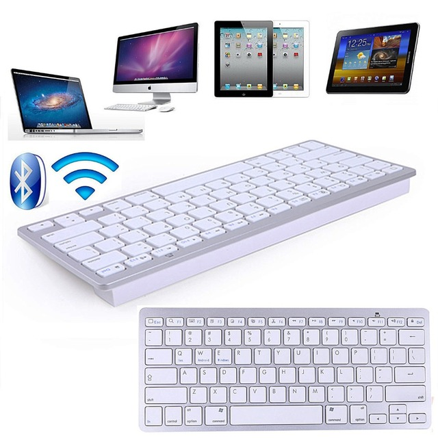 Aluminum Plated Bluetooth Wireless Keyboard For IPad 3 4 5 6 Pro IPhone 5 6 6s For iMac PC For android/window mobile smart phone