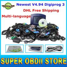 DHL Free Digiprog 3 V4.94 Odometer Programmer Digiprog III Digiprog3 OBD2 Version Set And Programming Digital Speedometer(China (Mainland))