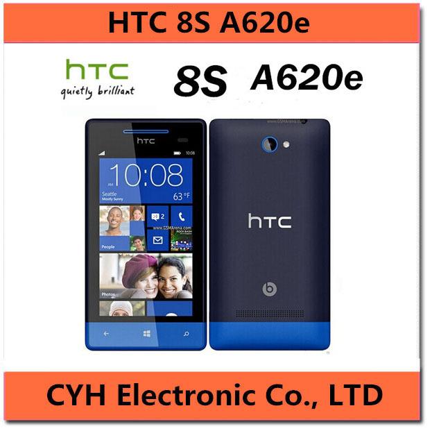 HTC Windows Phone 8S A620e Original Unlocked Cell phone Win8 3G GPS WIFI 4.0''TouchScreen 5MP camera Free Shipping(China (Mainland))