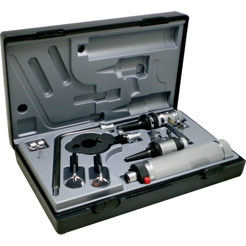Фотография Professional Medical Diagnositc ENT Kit Direct Ear Care Otoscope and Ophthalmoscope Diagnosis Set