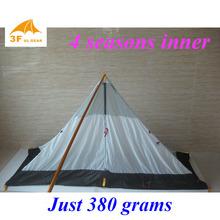 Just 380 grams 3F ul Gear 4 seasons outdoor summer camping tent(China (Mainland))