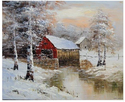 L Colis Oil Landscape Painting