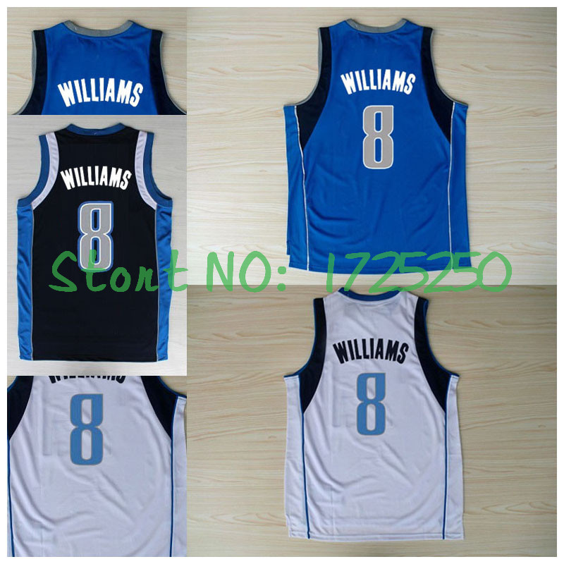 New Meterial Rev 30 Embroidery Basketball Jersey #8 Deron Williams Jersey Fast Free Shipping(China (Mainland))