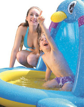 DR.B Baby Preschool Swimming Ring Penguin Animal Shaped Inflatable PenguinsKids Pool Spurts Outdoor Summer Water Toy JL017227NPF(China (Mainland))