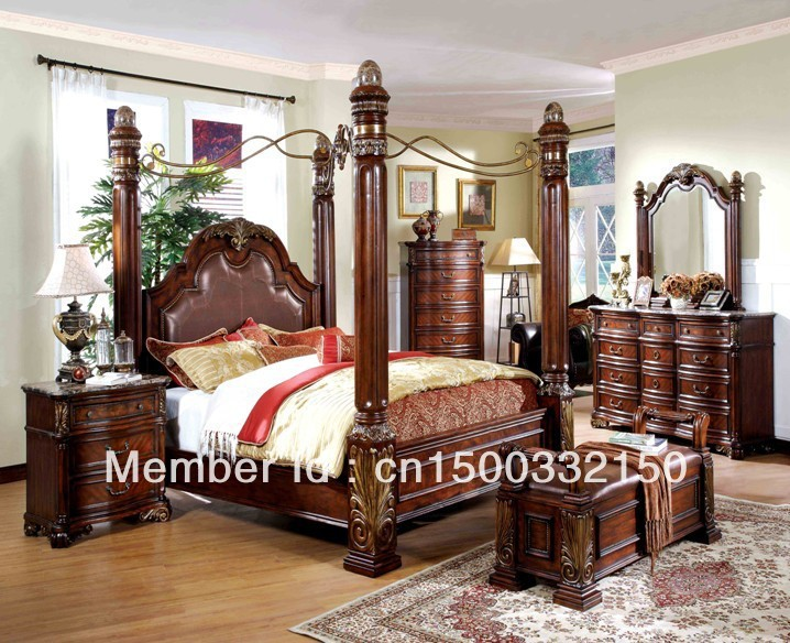 CLASSIC WOOD HAND CARVING BEDROOM SET M8000 In Antique Furniture Sets From Fu