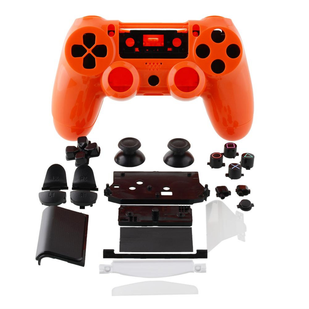Cool Wireless Controller Shell Cover Housing +Button Orange Parts For Sony PlayStation 4 DualShock PS4 Gamepad Joystick(China (Mainland))