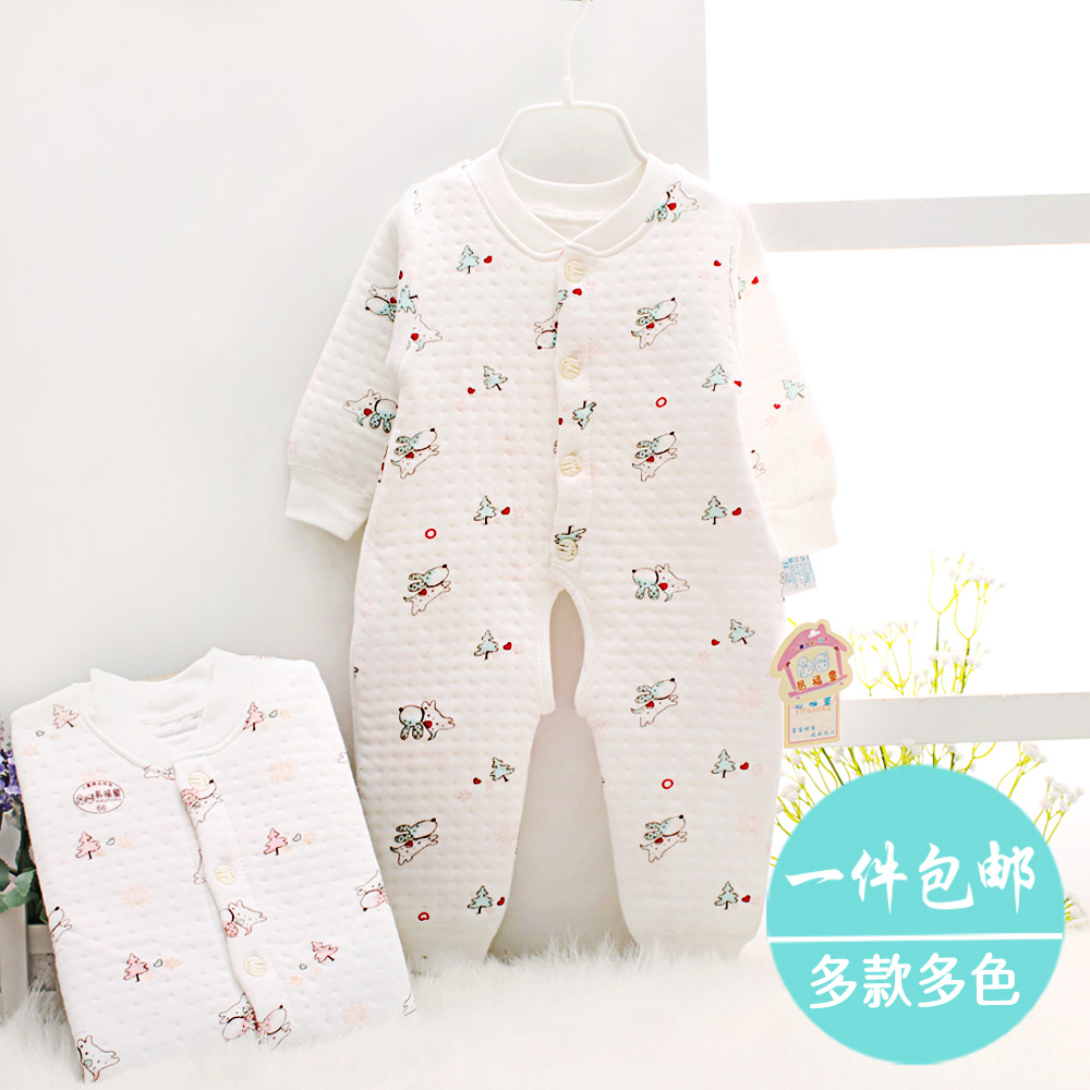 Buy Children pajamas baby rompers newborn long sleeve ...