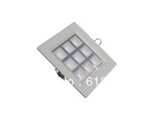 Free Shipping 10pcs/lot 9w led grille lamp square ceiling lamp white shell spot lighting lamp white/warm white(China (Mainland))