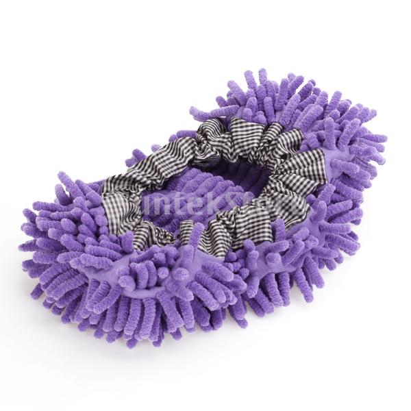 Free Shipping Purple Mop Shoe Cover Dusting Floor Cleaner Cleaning(China (Mainland))