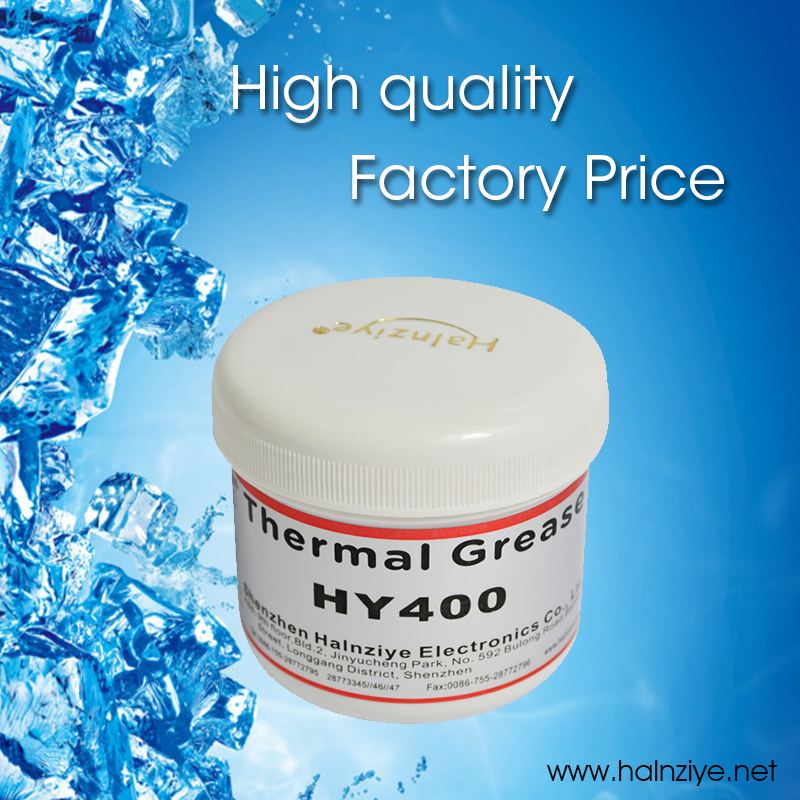 Free freight!!!White LED heat sink thermal paste compound grease HY410 with can 100g(China (Mainland))