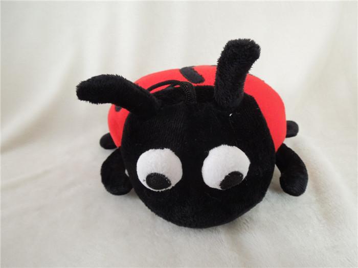 Free shipping beetle ladybug plush toy ladybug soft stuffed toy 25cm size 5pcs/lot(China (Mainland))