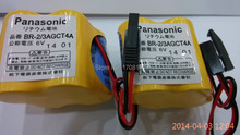 2 шт. / lot BR-2 / 3AGCT4A литиевая 6 v. 2400 мАч плк аккумулятор с черный вилка для Panasonic FANUC A98L-0031-0025