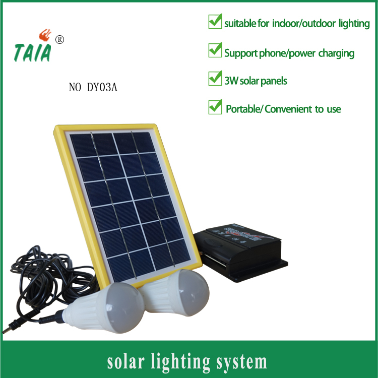 3W cheap Portable solar generator Solar DC Power System solar light system for rural solar lighting system for remote areasDY03A(China (Mainland))