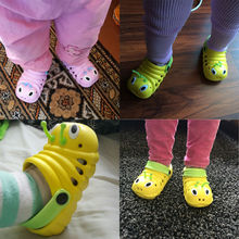 New 2016 Kids summer sandal Cute caterpillar garden shoes Child boys and girls baby sandals indoor slippers slip Children's hot(China (Mainland))