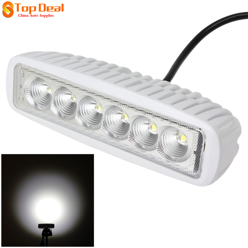 6'' 18W Led Work Light Bar Spot Beam Indicators Motorcycle Driving Offroad Boar Car Tractor Truck SUV ATV 12V IP67 - Top Deal Auto Supplies store