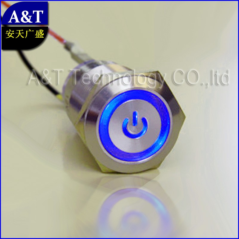 blue led 19mm switch AT