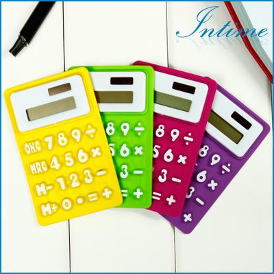 Portable Foldable Silicone Mini 8 Digital Calculator Solar Energy Multi Color Soft keyboard Creative Magnetic adsorption(China (Mainland))