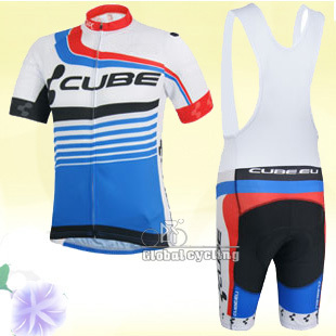 2015 blue cube Team Cycling Jersey and bikes Short with gel padding free shipping(China (Mainland))