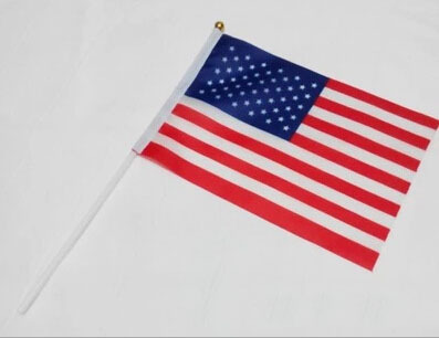 10pcs/Lot Small USA Uncle Sam Hand Flag United States of American National For Sport Games Football Match Celebration Olympic(China (Mainland))