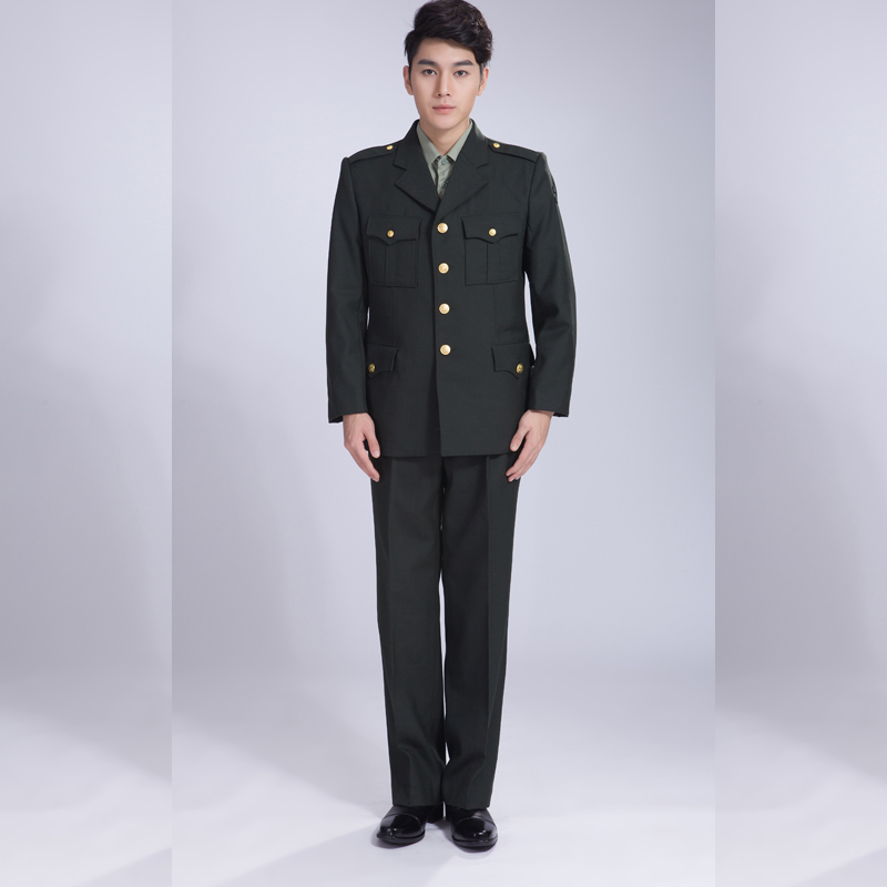 2016 new formal cotton long sleeve working clothes 3xl size green winter warm official guard clothes on duty sdc008<br>