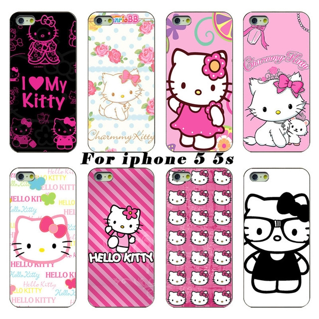 cute hello kitty cell phone bags case cover for iphone 4S 5S 5C SE 6S 7 PLUS Samsung S3 S4 S5 S6 S7 note IPOD Touch 4 5(China (Mainland))