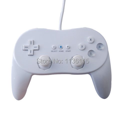 1pcs low Price Free Shipping High Quality White Wired Classic Pro Controller Console Joypad For Nintendo Wii Game Remote(China (Mainland))