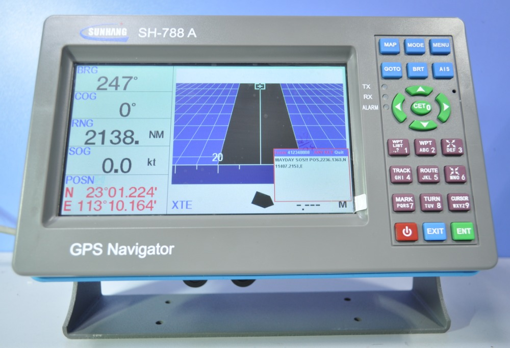 SH-788A 7inch class b ais transponder&receiver combo plotter gps marine navigator from manufacturer 2017 hot selling