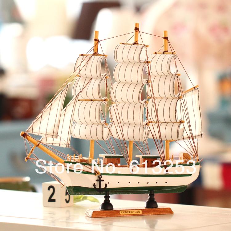 Wooden Crafts Sailing Boat. Desktop Decoration.European Mediterranean Style Sailing Ship.Handicraft Ship Model. Gift ID:A0102151(China (Mainland))
