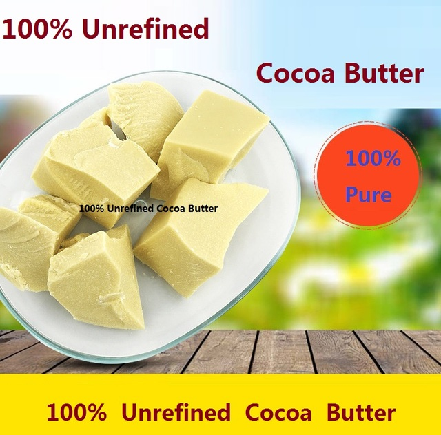 Pure Cocoa butter  Ounces Raw Unrefined Cocoa Butter Base Oil Natural ORGANIC  2016 NEW Essential Oil