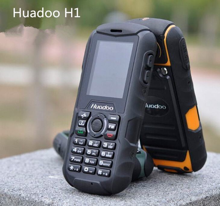 Huadoo H1 Phone IP68 Waterproof Shockproof Dustproof Mobile phone Outdoor Senior Old Man 2SIM phone 2000mAH 0.3MP No Smart Phone(China (Mainland))