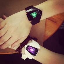 Luminous Led Fashion Trend Of Students Male And Female Candy Colors Couple Multifunction Sports Electronic Watches