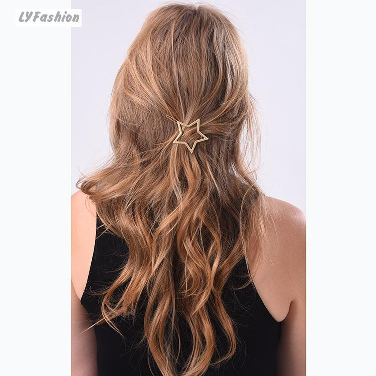 New Arrival Hair Jewelry European Style Female Stars Heart Shaped Hairpin Free Shipping Hair Clips Sisters Gift Head Wear(China (Mainland))