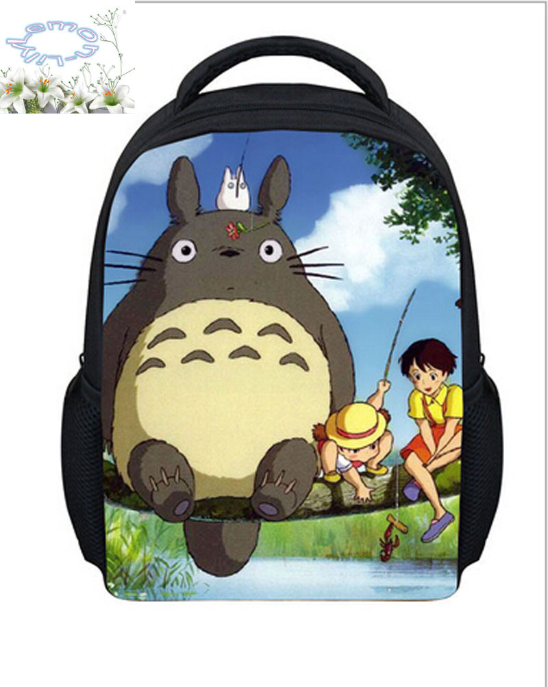 New Arrives Backpack My Neighbor Totoro Children Fashion Student 3D Japan Schoolbag Girls Boys Cartoon Kids Free Shipping B021(China (Mainland))