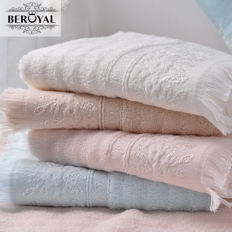 Beroyal 2016 NEW Hand/Face Towel with Tassels--1PC/Lot 100% Cotton Towels serviette Gift Towels for Family 010572(China (Mainland))