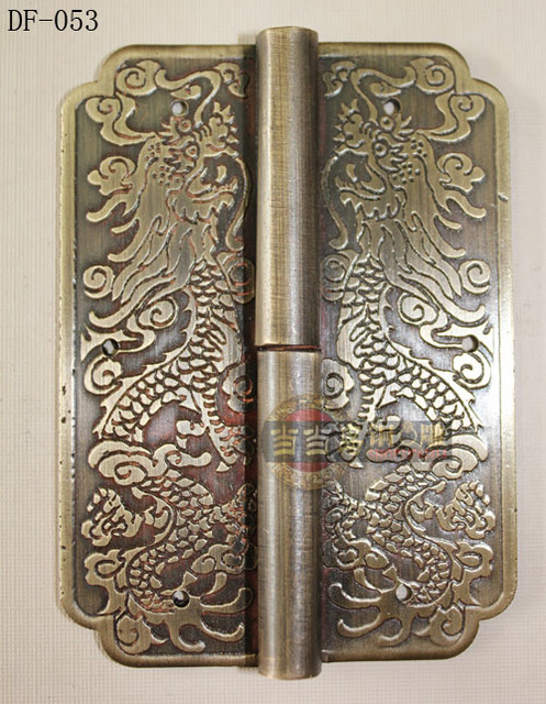 Chinese antique bronze copper hinge Diao length 8CM