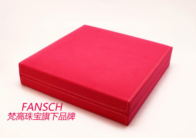 20CM*19CM*4CM Wedding necklace three-piece box/suit/wedding wedding dinner suit/dress red necklace box jewelry box
