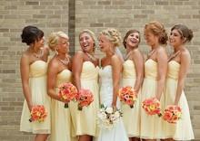 Vestido Madrinha Country Style Bridesmaid Dresses A Line Chiffon Beach Summer Short Wedding Guest Gowns Under 100 $ Cheap MG06