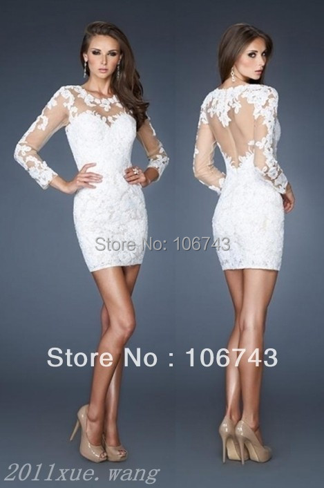 Dress free shipping 2016 new design hot all white sexy for Sexy wedding reception dresses
