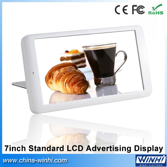 7 inch plastic shell 1080p decode lcd screen shopping mall Auto play standard digital advertising signage player video(China (Mainland))
