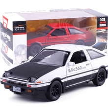 Buy New INITIAL D Toyota AE86 1:28 car model Anime Cartoon Fast & Furious alloy pull back sound light boy simulation Tofu Gift Box for $12.24 in AliExpress store
