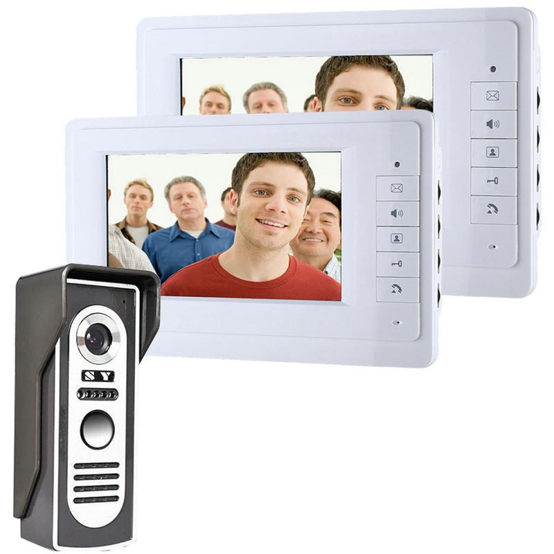 "FREE SHIPPING 7"" TFT Color Video Door Phone Intercom Doorbell System Kit IR Camera Doorphone Monitor Speaker Door Bell Intercom(China (Mainland))"