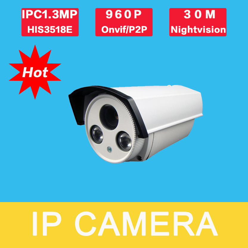 IP2130KH-E-B1 home cameras 1.3MP IP Camera ONVIF Waterproof Outdoor IR CUT Night Vision P2P Plug and Play, free shipping<br><br>Aliexpress